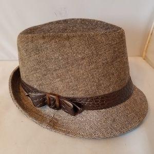 Nine West Gray Textured Women's Fedora Hat